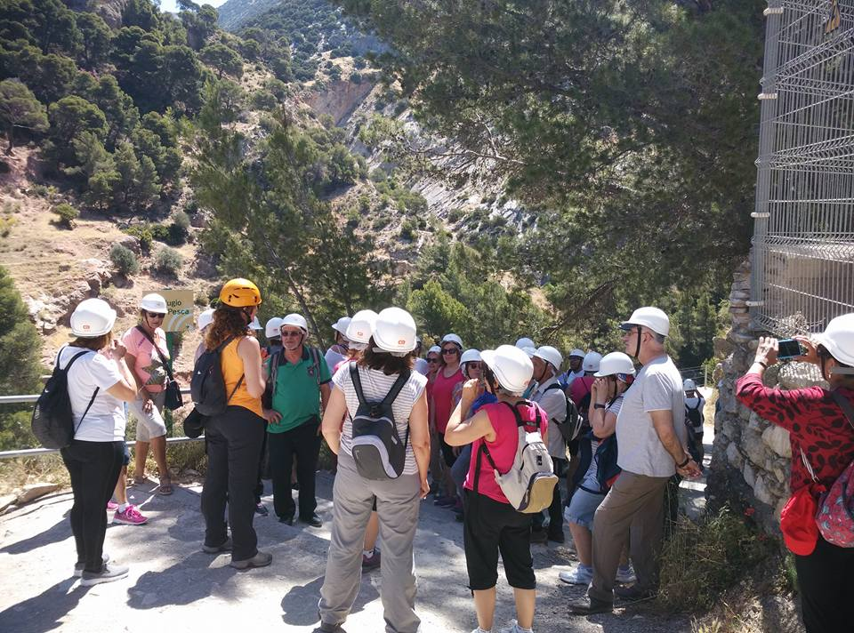 a group of tourists in Andalusia